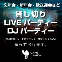 貸切LIVE パーティー、DJパーティー承っております。