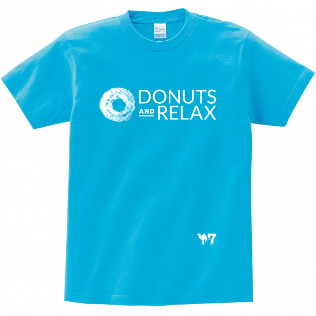 DONUTS AND RELAX T-SHIRTS WHITE LOGO
